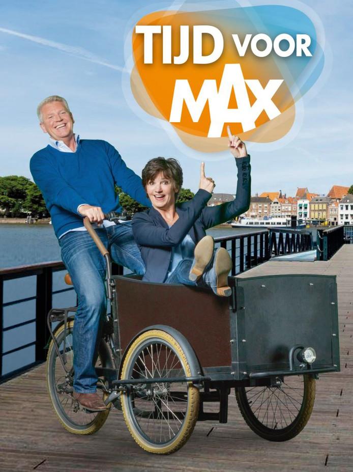 Sybrand en Martine, met op de achtergrond Deventer.