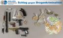 Niet alleen drugs, ook contant geld en wapens worden regelmatig in beslag genomen.