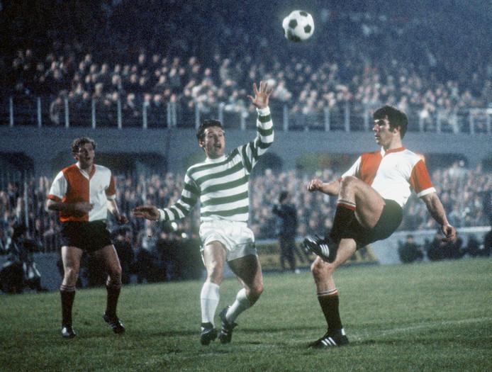 Willem van Hanegem in de Finale van de Europacup tegen Celtic in Milaan.