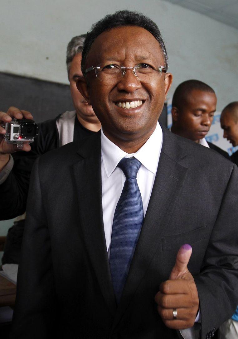 Hery Martial Rakotoarimanana Rajaonarimampianina, de nieuwe president van Madagaskar. Beeld reuters