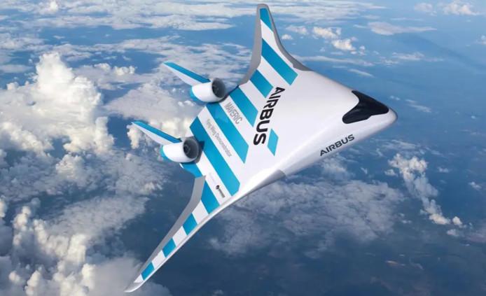 """""""Maveric"""", l'aile volante mise au point par Airbus a été dévoilée le 11 février au salon aéronautique de Singapour."""