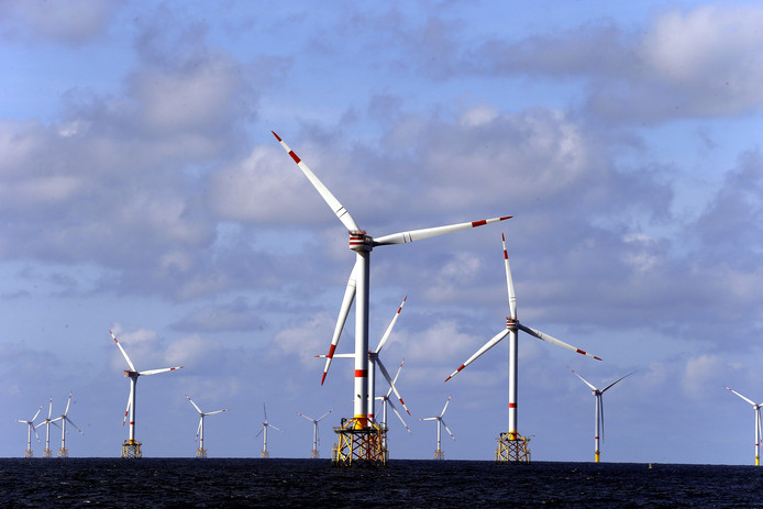 Le parc éolien belge en mer du Nord.