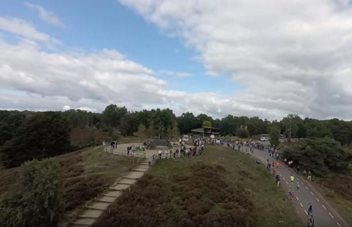 Huub Hulscher filmde ook de Posbankloop met zijn drone.