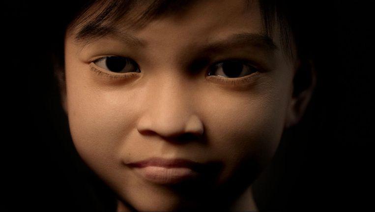 Het virtuele meisje 'Sweetie' Beeld afp
