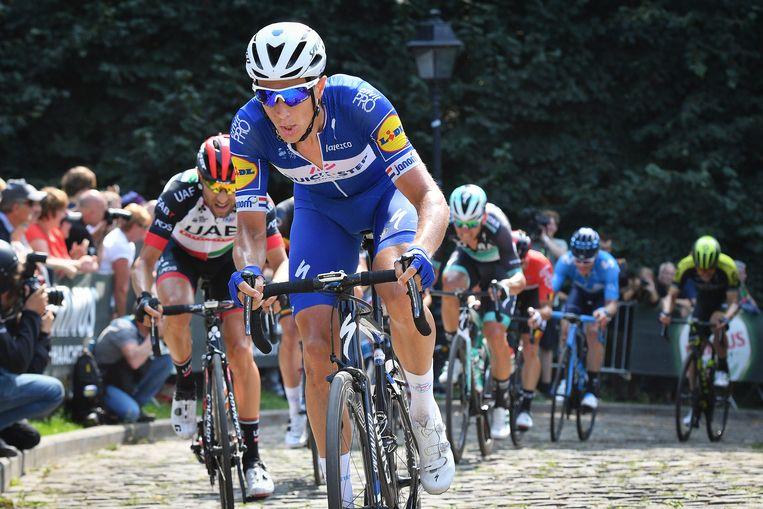 Niki Terpstra in actie tijdens de laatste etappe van de Binckbank Tour. Beeld BELGA