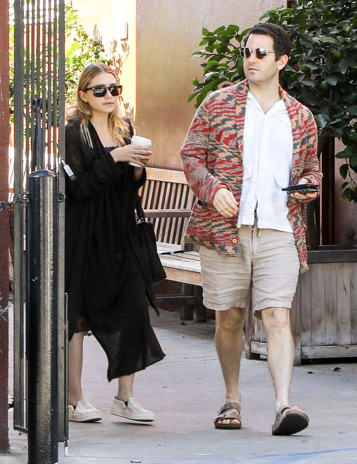 Ashley Olsen en haar mystery man.