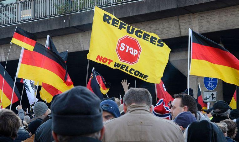 'Rechts-extremisten doen alsof de criminele nacht een moment van Duits ontwaken is geweest' Beeld anp