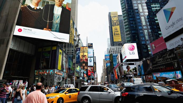 Het centrale Times Square in New York is een van de door IS genoemde doelwitten voor een aanslag.