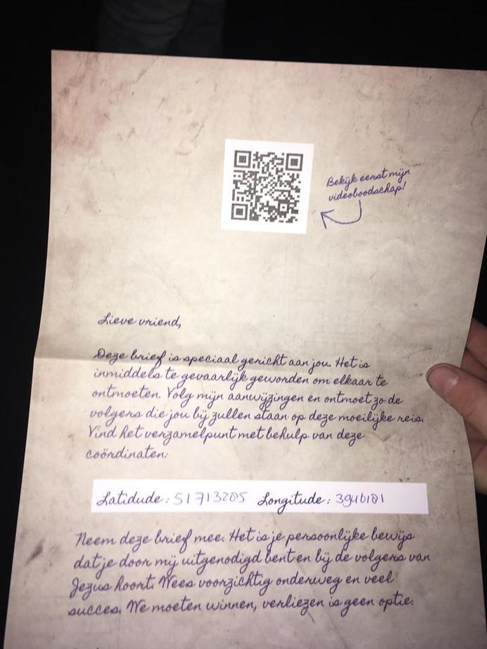 De brief van Maria waarmee de PaasChallenge wordt afgetrapt