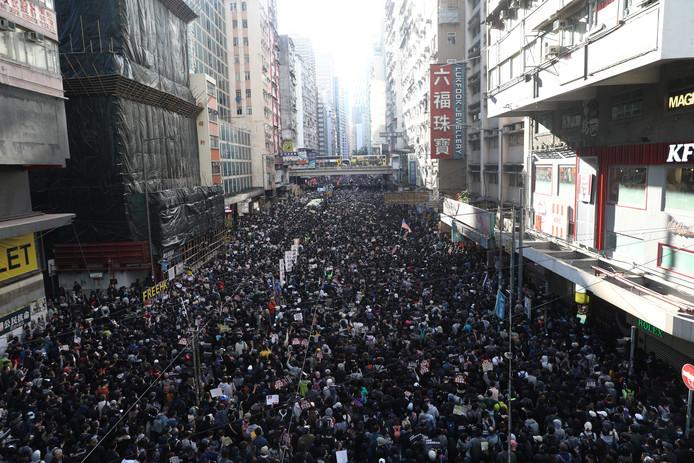 Hong Kong, ce dimanche 8 décembre.