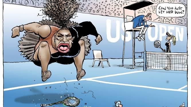 """Cartoon Serena Williams is """"niet racistisch"""""""