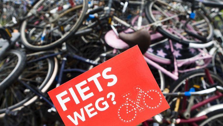 De fietsendepot in het Westelijk havengebied Beeld ANP