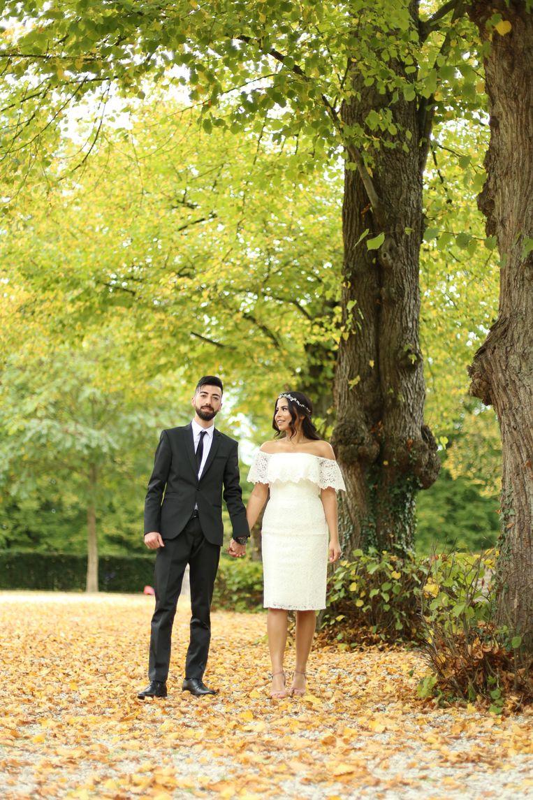 Mustafa Altindag en Tülin Kocaoglu bij hun verloving in 2017. Beeld Nezaket Aydin