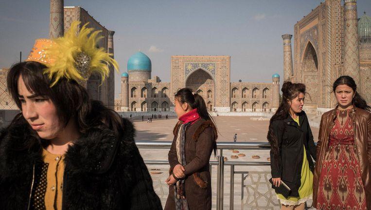 Het Registan, het historische hart van Samarkand. Beeld null