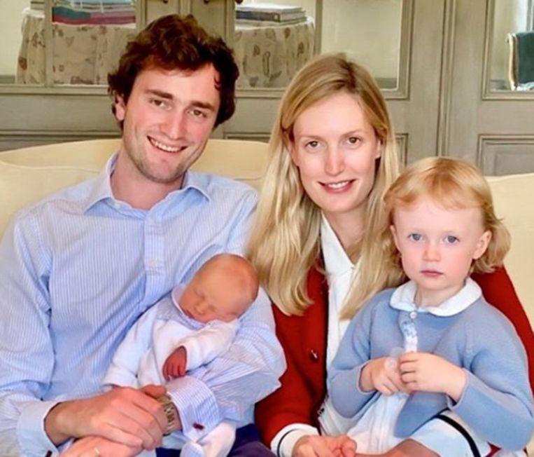 Prins Amadeo en zijn gezin.