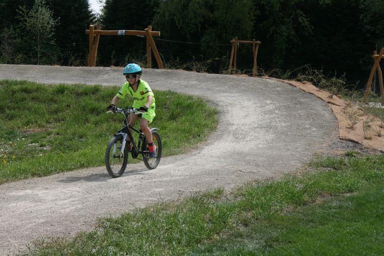 De nieuwe mountainbikeroute start aan de sporthal in Putte.