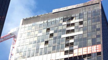 Brand in WTC-toren Brussel onder controle: geen gewonden