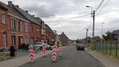 Verzakking in Rammelstraat door hitte en waterlek