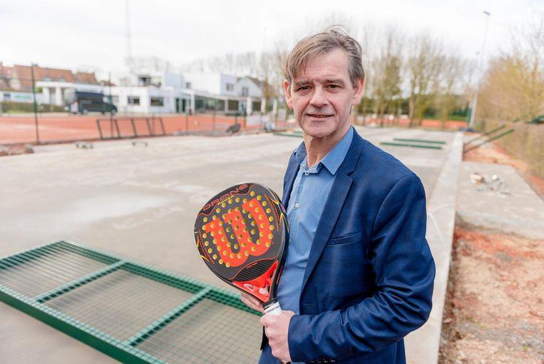 Jan De Ruyter heeft al zin in een spelletje padel.