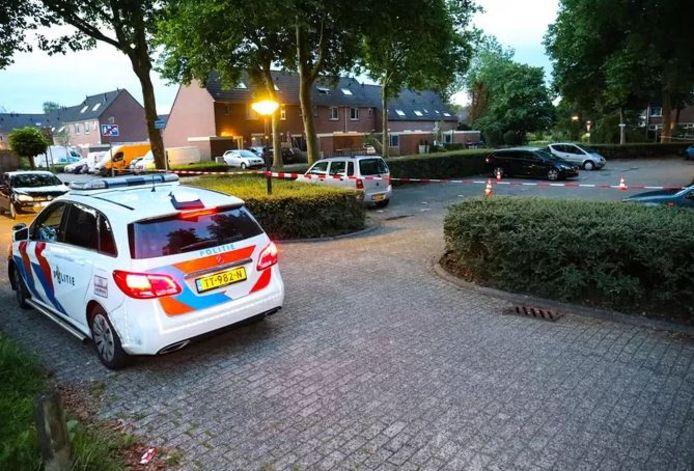 Op deze parkeerplaats aan de Markerichtersveld werd 20 juli geschoten.