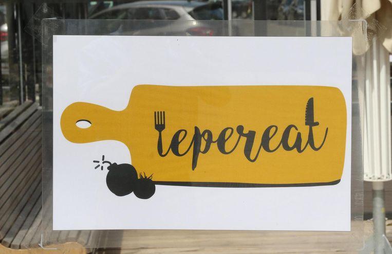 Het omstreden logo van IeperEat.