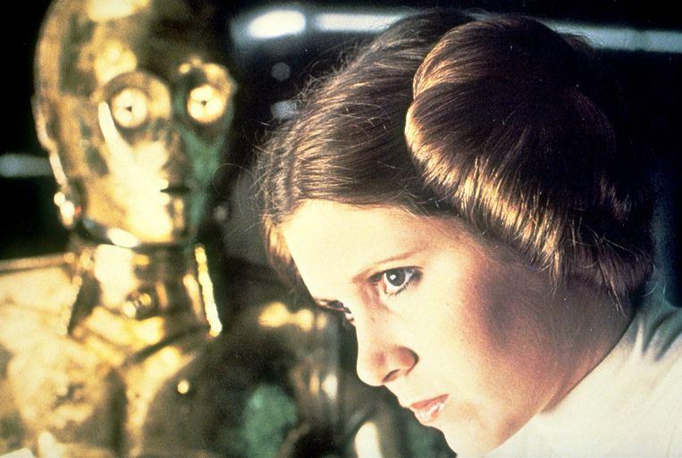 Carrie Fischer in de eerste reeks Star Wars films. Beeld x