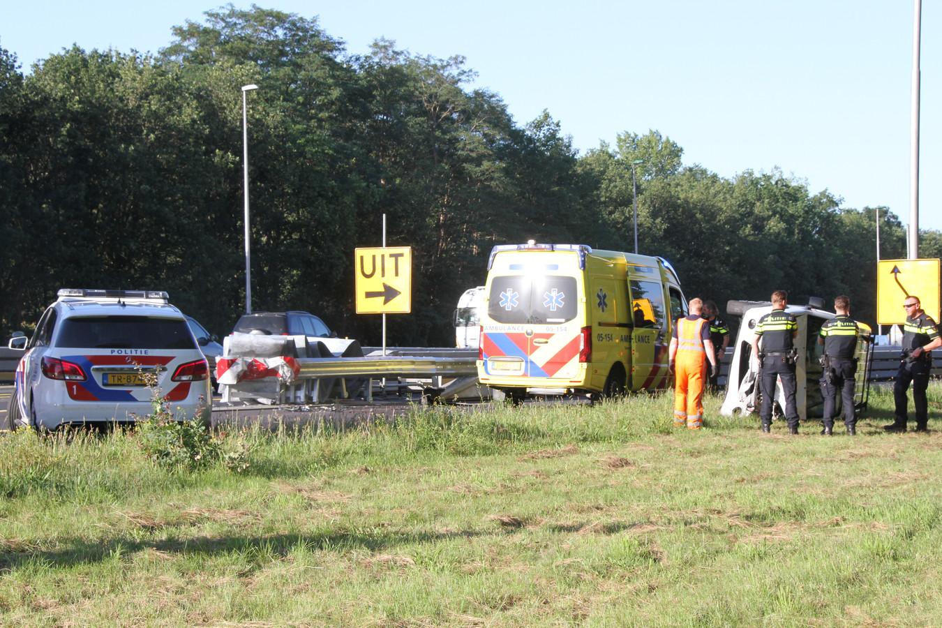 Ongeval bij Holten: afrit Markelo is afgesloten