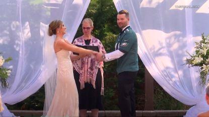 Ze verloor weddenschap, en nu moet Jennifer op haar mooiste dag 'ja' zeggen tegen iemand in een rugbyshirt