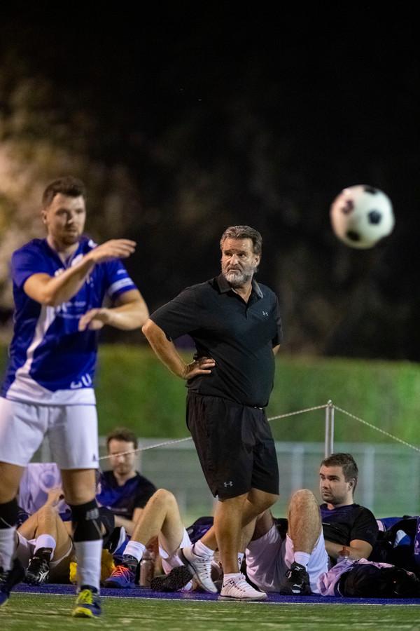 Dindoa-trainer Herman Egbers zag zijn ploeg dinsdagavond verliezen van Wit-Blauw in Kampen.