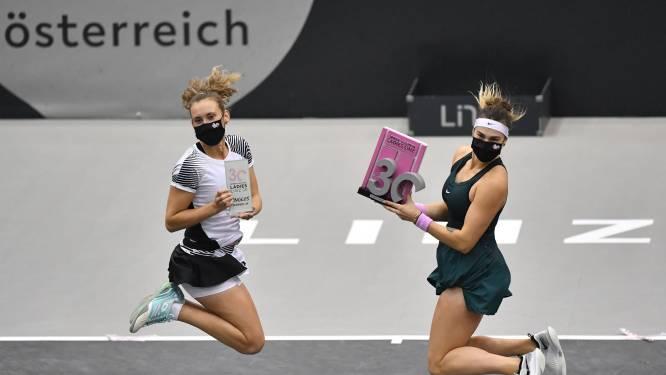 Elise Mertens verliest na felbevochten eerste set finale in Linz van dubbelpartner Sabalenka