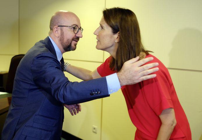 Le Premier ministre Charles Michel et la ministre du Budget Sophie Wilmes