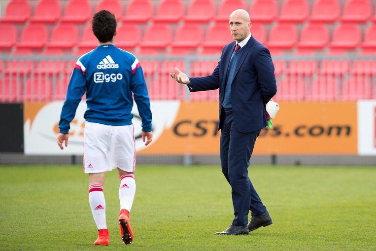 Clement en Stam in hun gezamenlijke tijd bij Jong Ajax, in 2015. Beeld Pro Shots / Jasper Ruhe