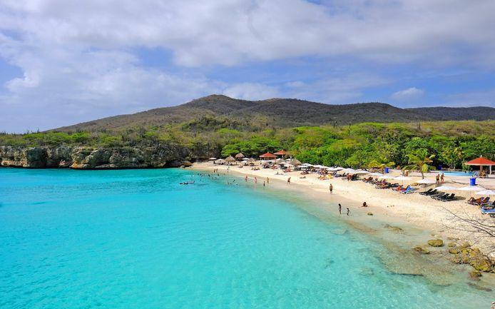 Foto van het strand waar Sara werd gevonden op Curacao