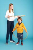 Er zijn twee modellen van prikkelarme broeken: slim en baggy.