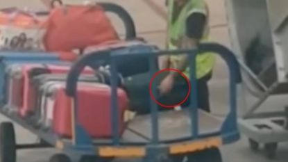 Verbijsterde passagier van Ryanair filmt hoe bagageafhandelaar voorwerp uit koffer steelt