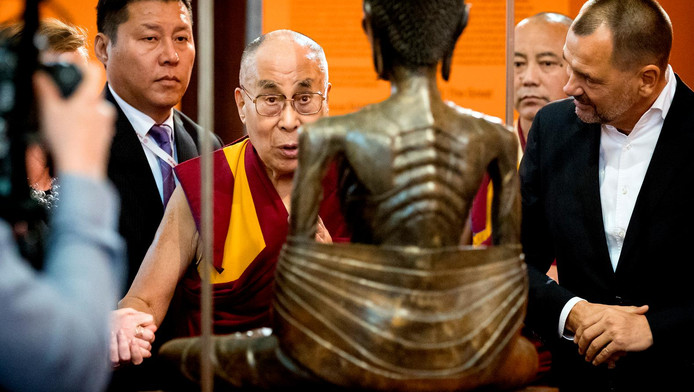 De Dalai Lama in de Nieuwe Kerk