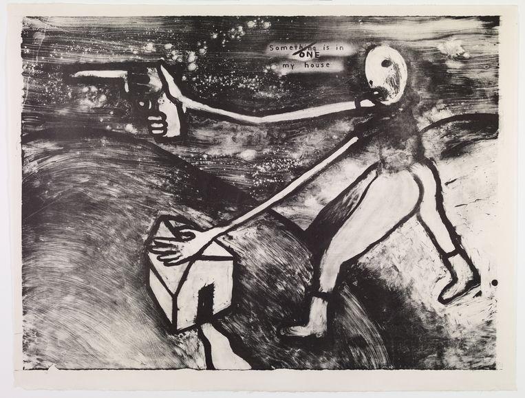 David Lynch, 'Someone is in My House' (2014). Beeld Bonnefantenmuseum Maastricht