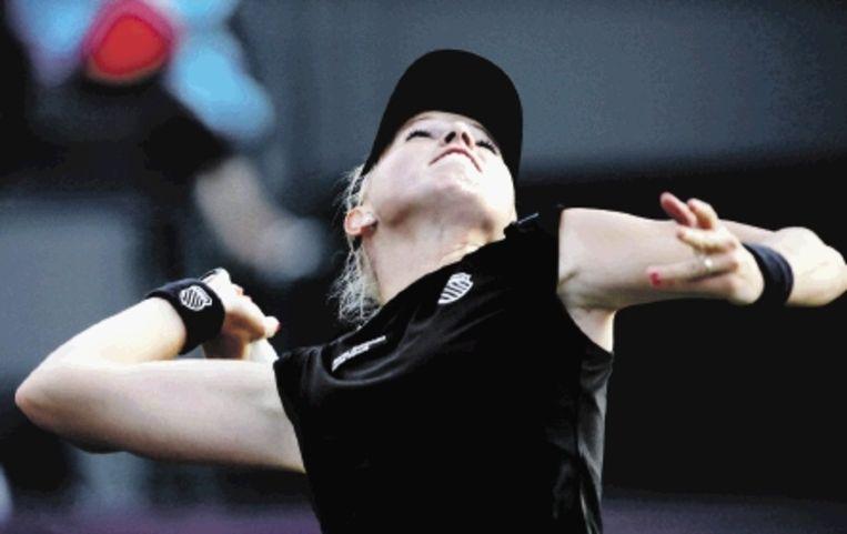 Michaëlla Krajicek versloeg de Italiaanse Errani in twee sets: 6-4 en 6-2. (FOTO RICK NEDERSTIGT, ANP) Beeld