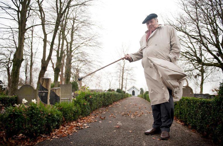 In 2013 liet Brands fotograaf An-Sofie Kesteleyn de plek zien waar hij na zijn overlijden begraven wil worden. Beeld An-Sofie Kesteleyn / de Volkskrant
