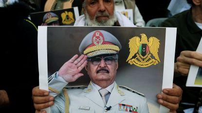 Troepen van Libische militaire leider enten Turks cargoschip