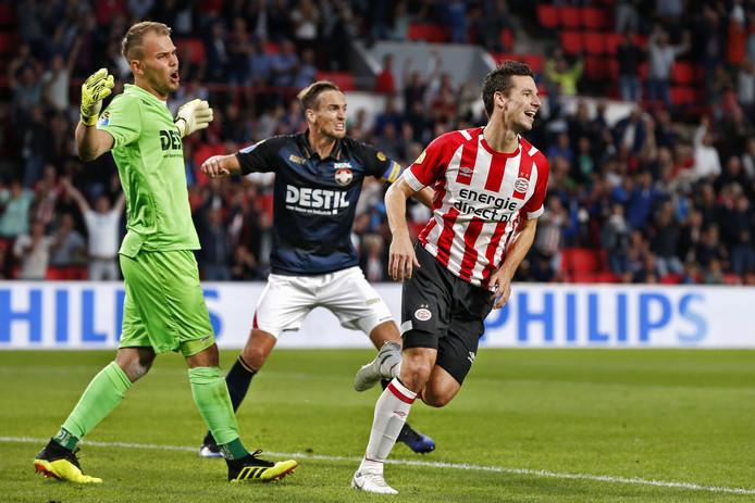 Nick Viergever scoorde zaterdag twee keer tegen Willem II.