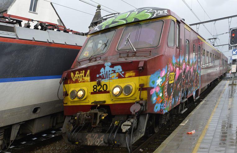 Een 'varkensneus' die op de lijn naar Brussel rijdt.