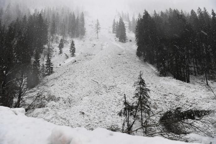 Ravage na een lawine in de Alpen. (Foto ter illustratie.)