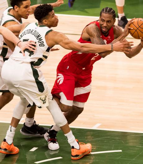 Toronto Raptors nog één zege verwijderd van NBA-finale