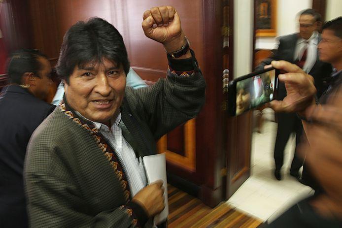 De voormalige Boliviaanse president Evo Morales