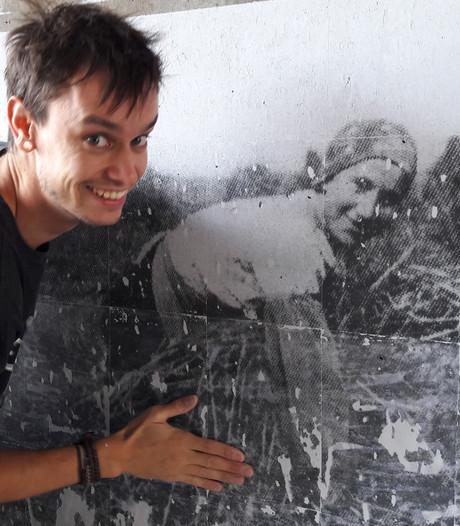 Jonge kunstenaar geeft Nistelrode oude foto's terug