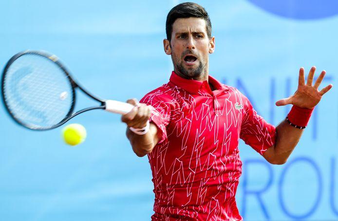 Novak Djokovic tijdens de door hem georganiseerde Adria Tour.