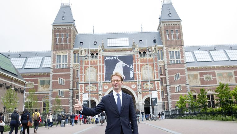 Taco Dibbits poseert voor het Rijksmuseum. Beeld anp