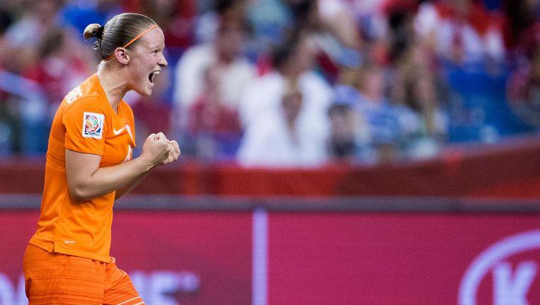 Mandy van den Berg tijdens het WK in Canada Beeld anp