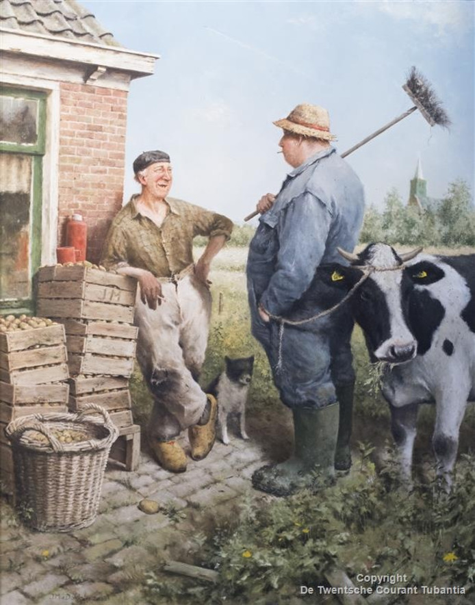 'Weerpraatje met koe'.